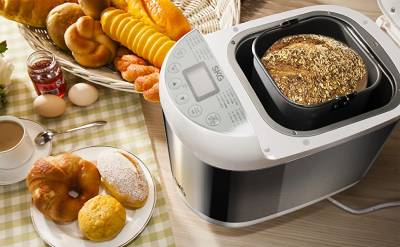 Digital Bread Maker with 12 Automatic Programs 13 Hours Delay Timer Adjustable Crust Control Non-Stick Bread 60 Minutes Keep Warm Function